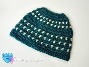 Block Stitch Bun Hat