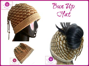 12ef696994b Bun Up Crochet Ponytail Hat. Bun Up Crochet Ponytail Hat. What do you get  ...