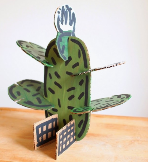 Build-A-Cactus Cardboard Craft