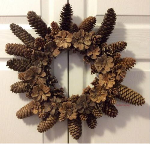 Dollar Store DIY Pine Cone Wreath