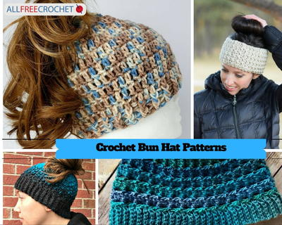 ba675388e 32 Messy Bun Hat Patterns | AllFreeCrochet.com