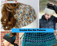 32 Messy Bun Hat Patterns