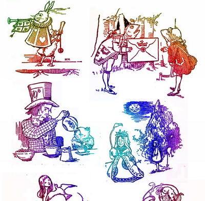Alice In Wonderland Printables Set 3 Allfreepapercrafts Com
