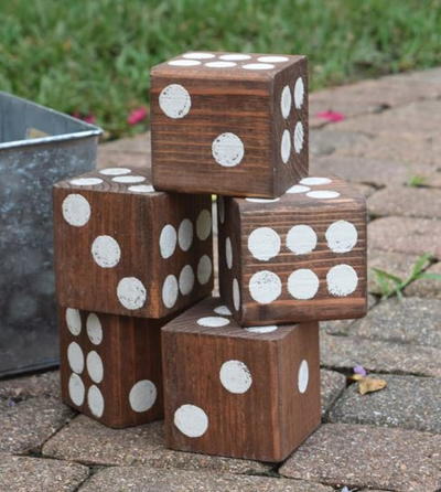 Giant Wooden DIY Lawn Dice