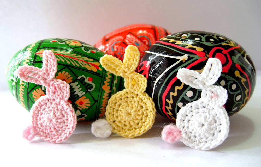 Easter bunny appliqu crochet pattern allfreecrochet ccuart Choice Image