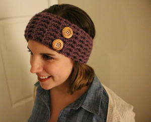 Cute Waffle Stitch Crochet Ear Warmer