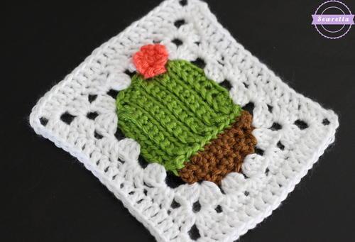 c3277d131770 Succulent Cactus Crochet Granny Square