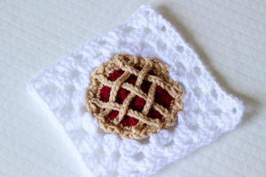 Cherry Pie Crochet Granny Square