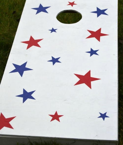 Patriotic Cornhole DIY Game Boards