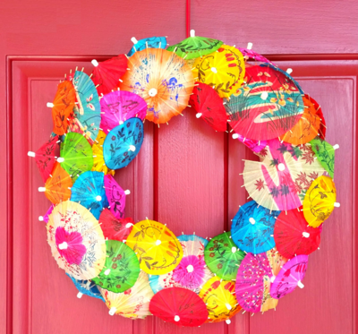 Summer Paradise DIY Umbrella Wreath
