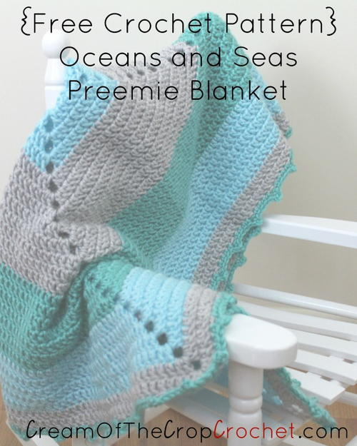 Ocean and Seas Preemie Blanket