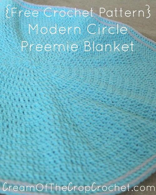 Modern Circle Preemie Blanket Allfreecrochetcom