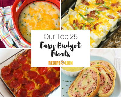 25 Budget Meals and Frugal Recipes