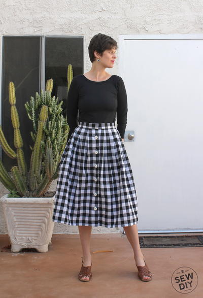 2-Yard Pleated Skirt Tutorial