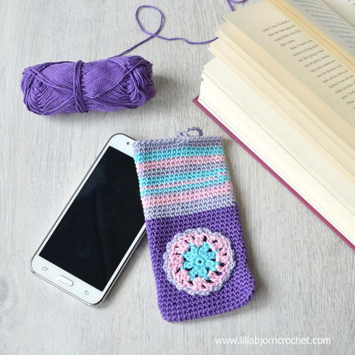 Cute and Colorful Crochet Phone Cozy