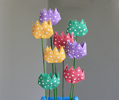 DIY Toilet Paper Roll Tulips