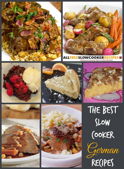 German Dinner in the Slow Cooker 11 German Slow Cooker Recipes  Bonus Recipes