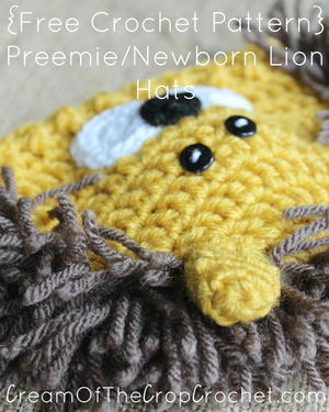 Preemie/Newborn Lion Hat