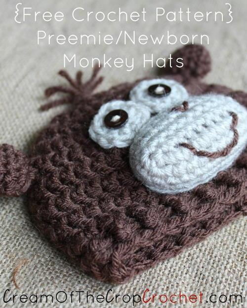 Preemienewborn Monkey Hat Allfreecrochetcom