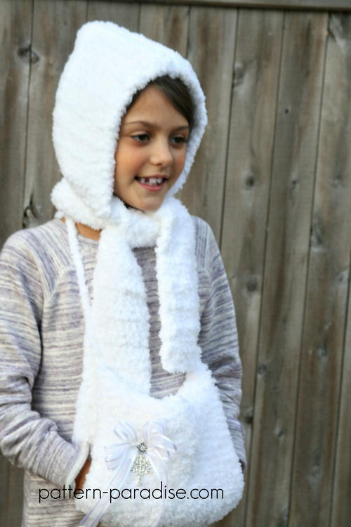 Fluffy Hat and Hand Muff Set