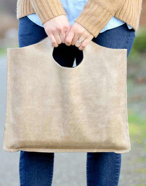 Four Step Leather Tote Tutorial