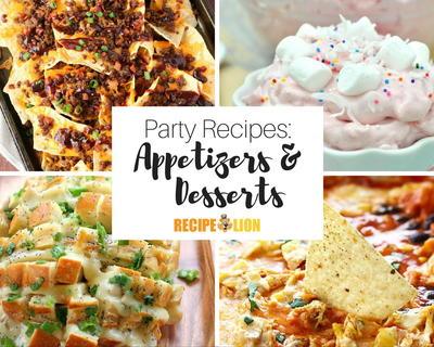 Easy dessert appetizer recipes