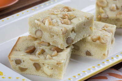 White Macadamia Nut Brownies