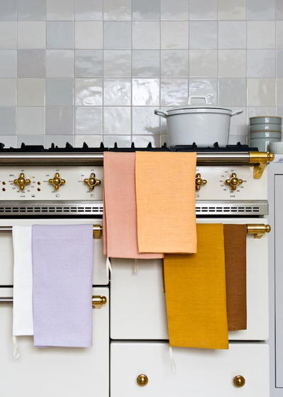 Linen Mitered Corner Dishtowels
