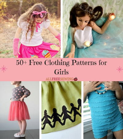 50 Free Clothing Patterns for Girls