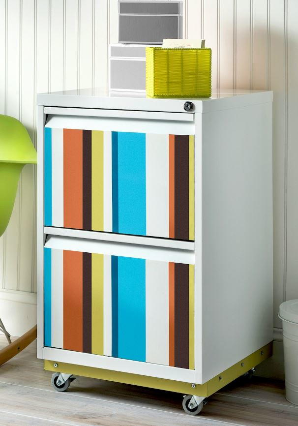 Color Splash Diy File Cabinet Makeover Diyideacenter Com