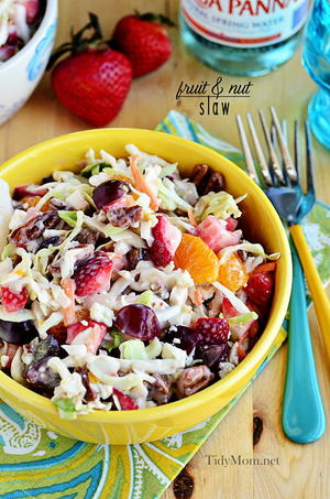 5 Minute Fruity Summer Coleslaw