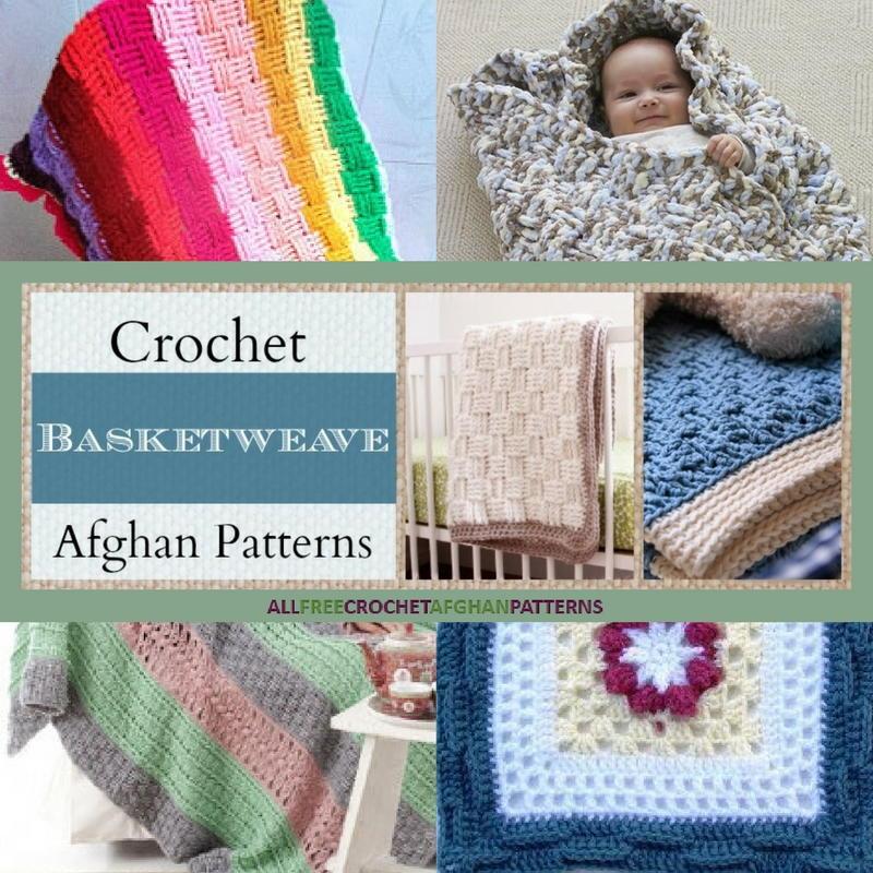 Crochet Basket Weave Afghan Baby Blanket Pattern And Tutorial : 21 Crochet Basketweave Afghan Patterns ...