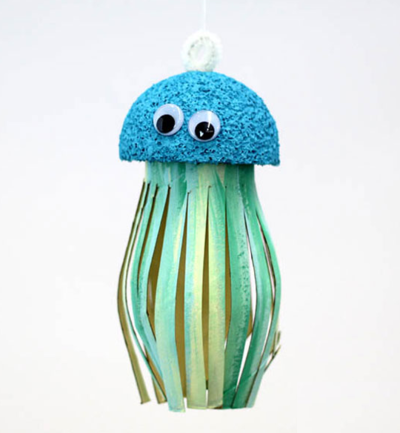 Toilet Paper Roll Jellyfish Craft