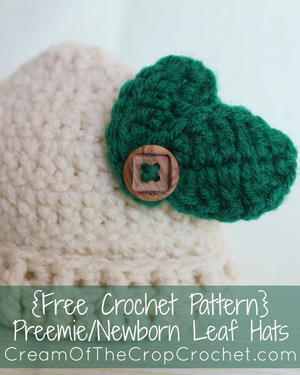 Preemie/Newborn Leaf Hat
