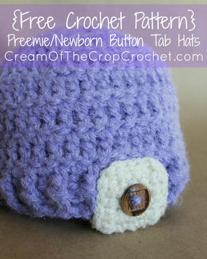 Preemie/Newborn Button Tab Hat
