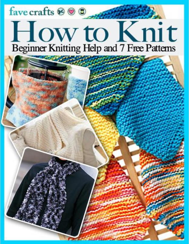 Knitting Pattern Help : How to Knit: Beginner Knitting Help and 7 Free Patterns ...