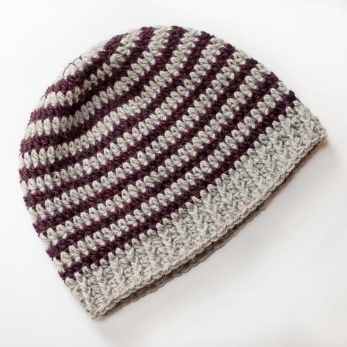 Basic Striped Crochet Hat Pattern Allfreecrochetcom
