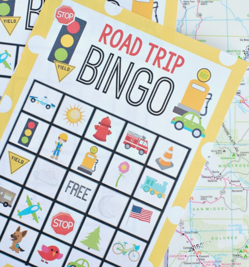 Road Trip Printable Bingo Cards