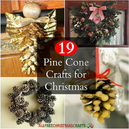 19 pine cone crafts for christmas for Fir cone christmas tree decorations