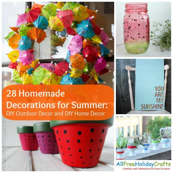 28 homemade decorations for summer diy outdoor decor and for Outdoor summer decorating ideas