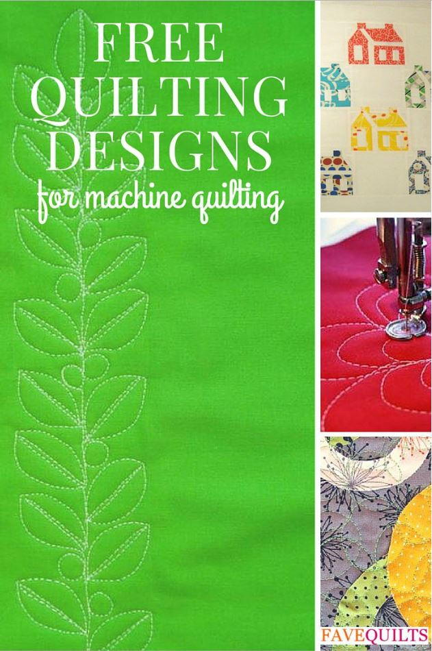 32 Free Quilting Designs for Machine Quilting FaveQuiltscom