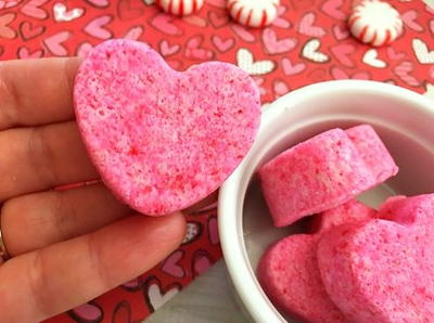 Gorgeous Heart Homemade Bath Bomb
