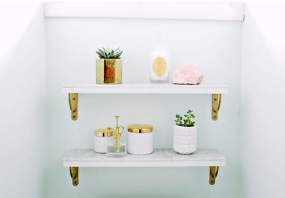 Luxurious DIY Marble Shelves
