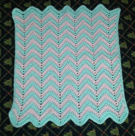 Free Crochet Baby Blanket Ripple Patterns : Baby Ripple Afghan AllFreeCrochet.com