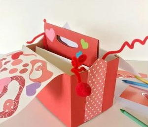 DIY Butterfly Valentine's Day Card Box Holder