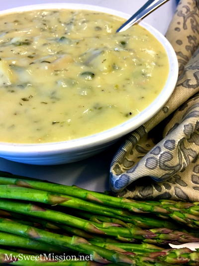 Semi-Homemade Asparagus Soup