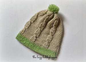 Not Your Basic Crochet Cable Stitch Hat