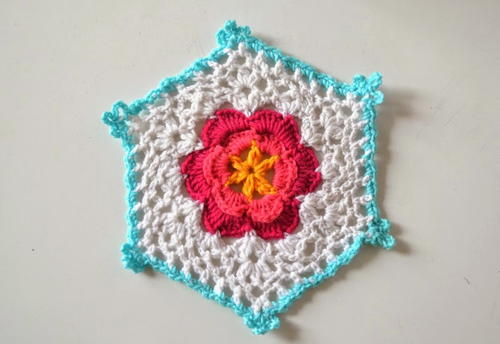 Flower Power Granny Hexagon