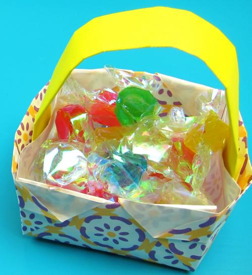 origami easter basket allfreepapercraftscom