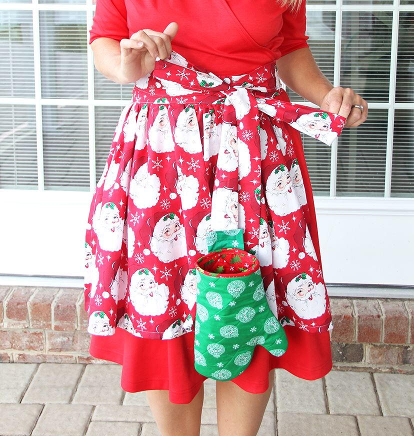 Apron With Detachable Oven Mitt Pattern Allfreesewing Com